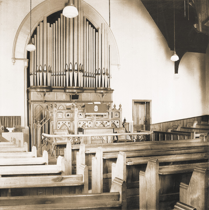 The interior of the 1888 College Road church building